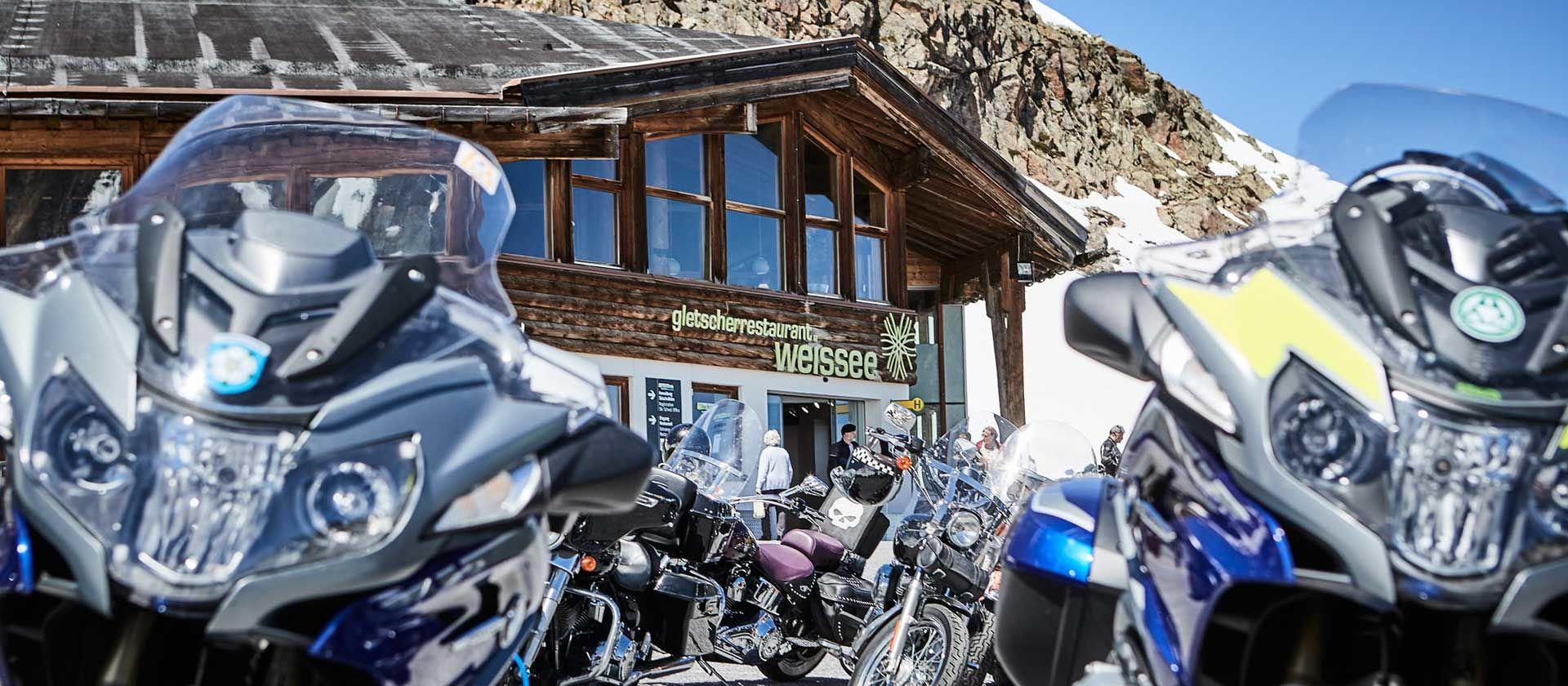 Motorrad im Kaunertal Foto: Kaunertaler Gletscher