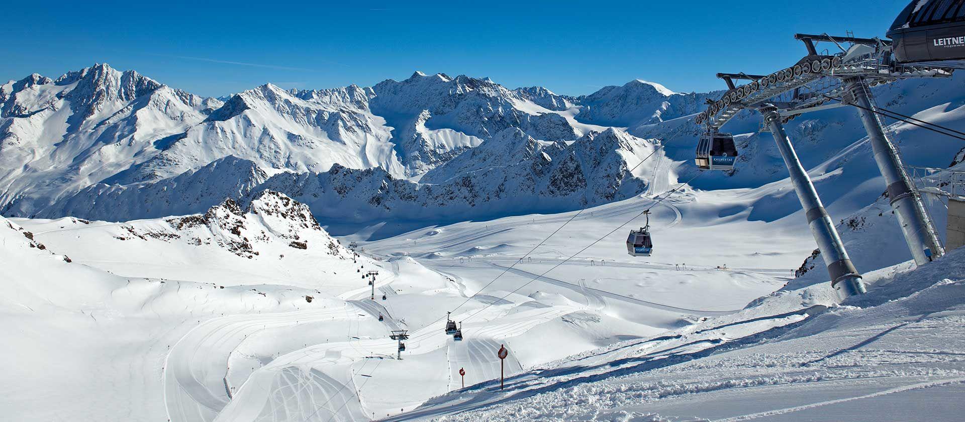 Skigebiet Kaunertaler Gletscher Foto: TVB Kaunertal