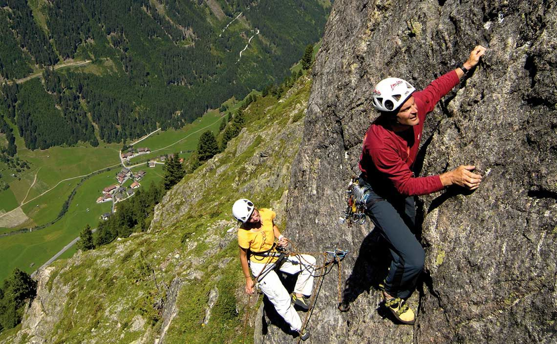 Klettern im Kaunertal, Foto TVB Kaunertal, Heinz Zak